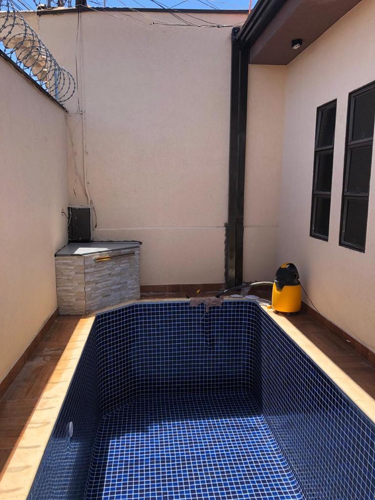 Piscina de Vinil com Banco Adão do Carmo - Estampa Blue Master 0,7mm-6