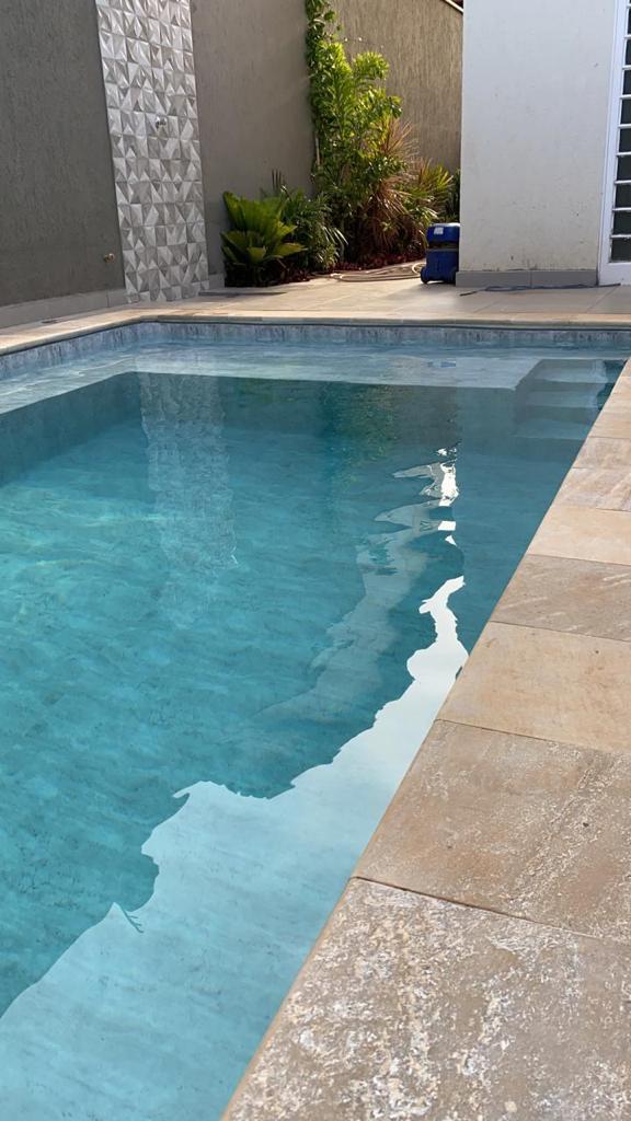 Piscina de Vinil com Banco e Degrau Jd. California - Estampa Marmore Carrara 0,7mm-12