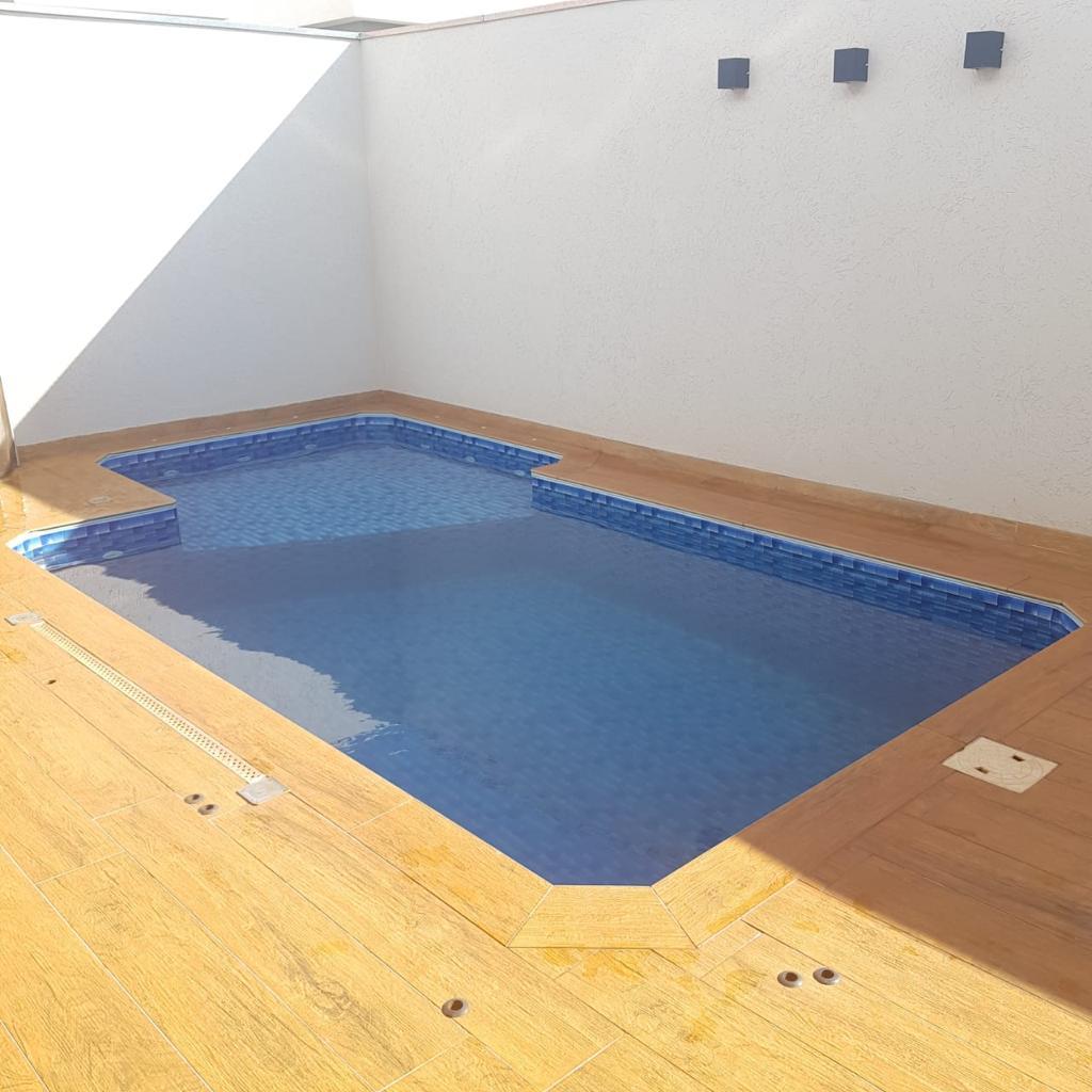 Piscina de Vinil com Praia Condominio Nova Jerusalem Jardinopolis - Estampa Granada 0,8mm-7