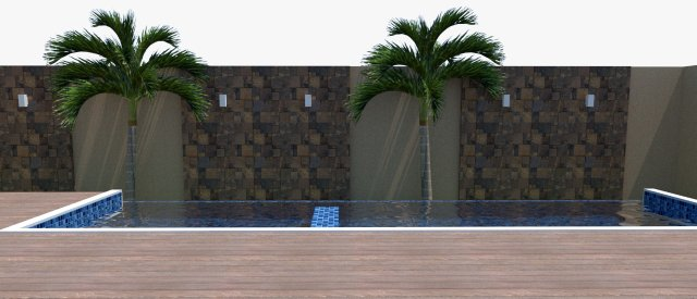 Piscina de vinil com Spa e Transbordo Estampa Master azul 0,7 mm-7