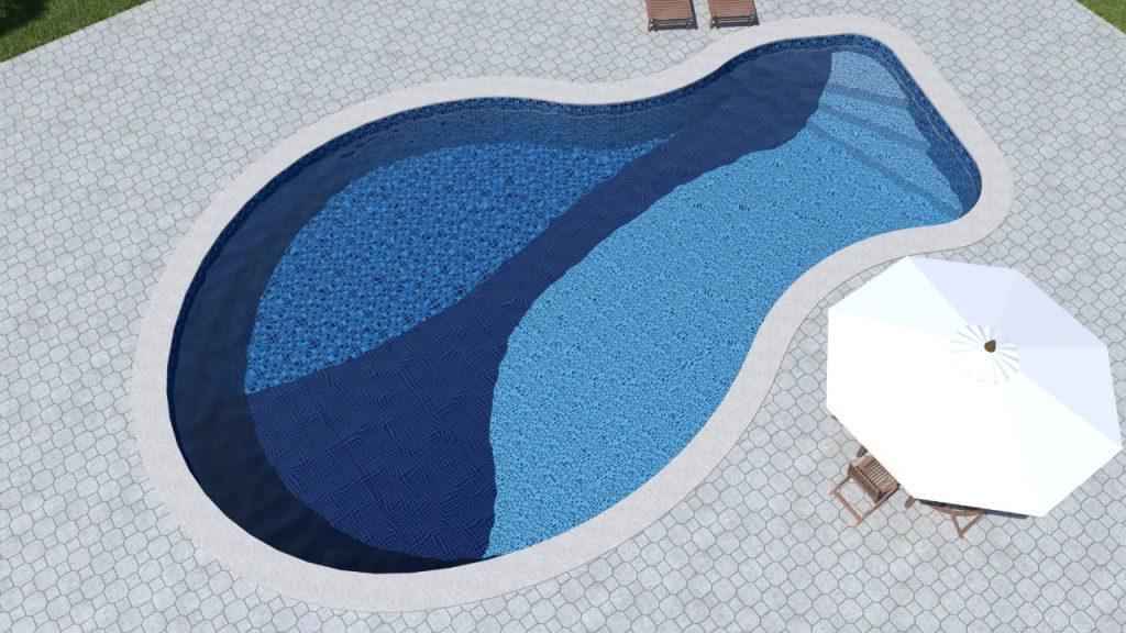 Piscina de vinil modelo irregulas Estampa Blue Master, Blue Cobalt e Sardenha-1