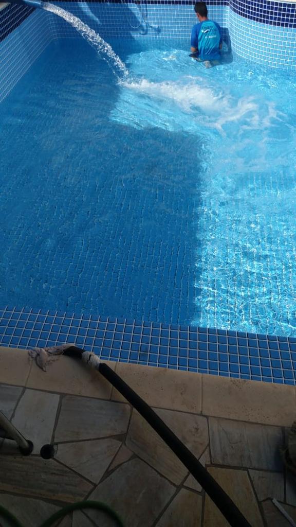 Reforma de Piscina de vinil Estampa Topazio 0,7 mm Bairro Alto da Boa Vista-5