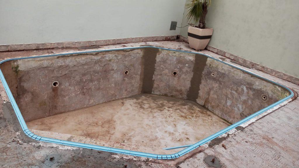 Troca de Vinil em Piscina Cond San Remo Estampa Green Stone 0,7mm-4