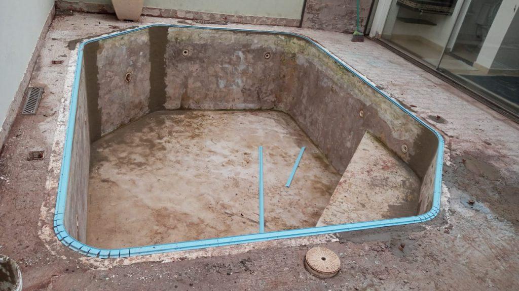 Troca de Vinil em Piscina Cond San Remo Estampa Green Stone 0,7mm-5