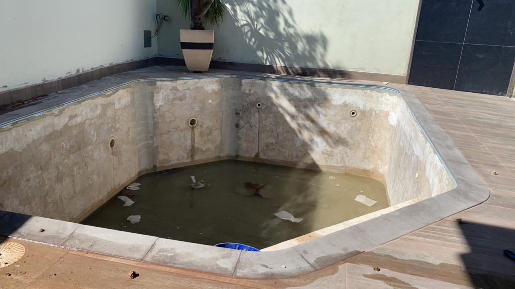 Troca de Vinil em Piscina Cond San Remo Estampa Green Stone 0,7mm-7