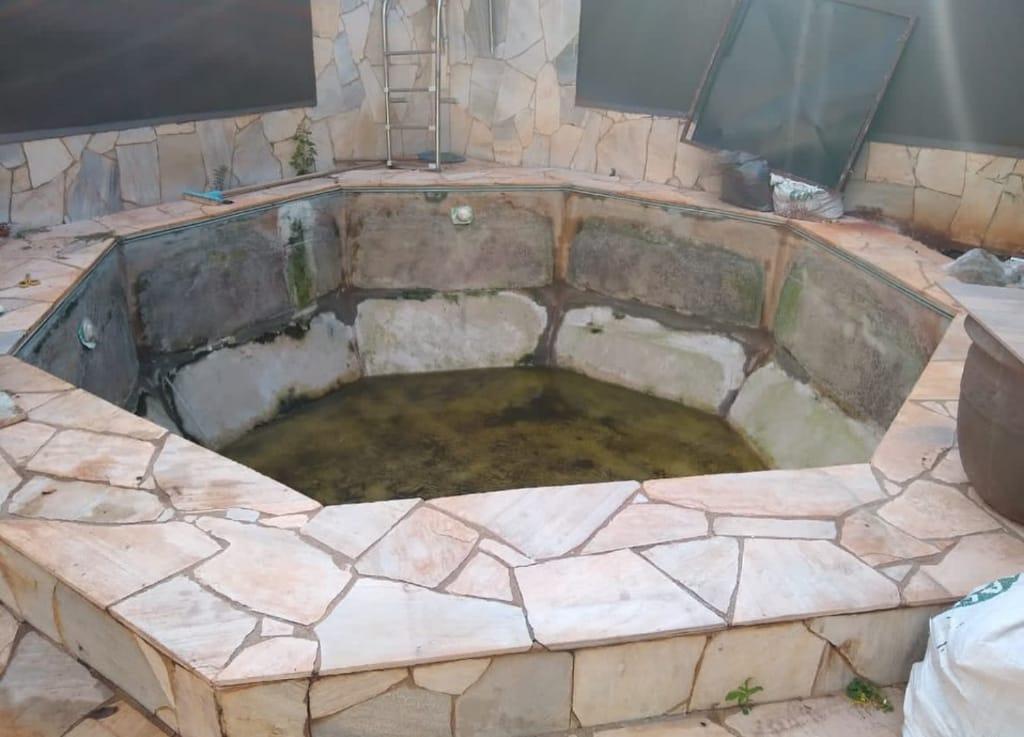 Troca de Vinil em Piscina na Lagoinha Estampa Blue Stone 0,7 mm-1